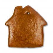 Gingerbread house for self-design, 20cm