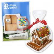 Mini gingerbread house craft set with promotional print