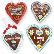 Individual gingerbread heart 21cm optionally with logo
