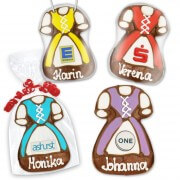 Dirndl made of gingerbread 11cm optionally with logo