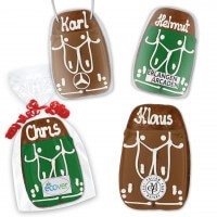 Gingerbread leather pants optional with logo 11cm