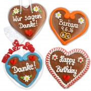 Personalized Gingerbread Heart 12cm as an individual gift