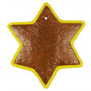 Gingerbreadstar blank with border, 20 cm
