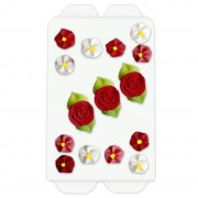 Cake decorations - Roses & Flowers, 15 parts