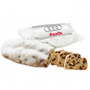 Rum -Stollen 750g with an individual label as a promotional gift