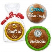 Gingerbread Circle 11cm - optional with logo
