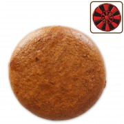 Gingerbread blank round, 15cm