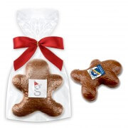 Milk chocolate- gingerbread man, logo optional