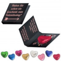 Chocolate Heart with promo card individual