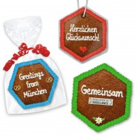 Gingerbread hexagon 13cm - optional with logo