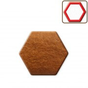 Gingerbread hexagon blank, ca 8cm