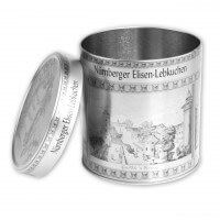 Gingerbread tin silver Nuremberg City - empty