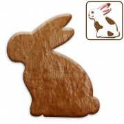 Sitting Easter bunny cookie blank, 15cm