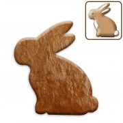 Easter cookies blank sitting rabbit, about 12 cm