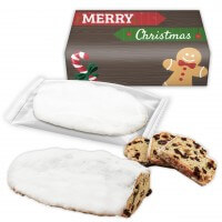 Stollen in freely printable cardboard with advertising branding, 750g