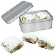 Stollen cake confectionery in tin - 4 pieces