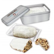 Mini christmas stollen cake with tin 200g