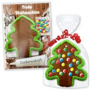 Crafting Set gingerbread tree with border - Christmas Edition