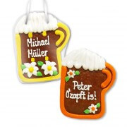 Gingerbread Beer mug Placement Card, 12cm