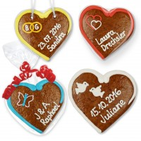 Gingerbread heart Place Card 12cm for weddings