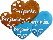 Gingerbread Heart Place Card Benjamin