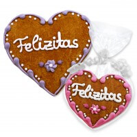 Gingerbread Heart Place Card Felizitas