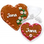 Gingerbread Heart Place Card Jana