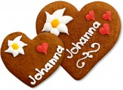 Gingerbread Heart Place Card Johanna