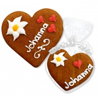 Gingerbread Heartwith Name Place Card