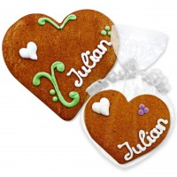 Gingerbread Heart Place Card Julian