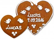 Gingerbread Heart Place Card Lucas