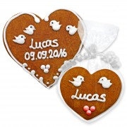 Gingerbread heart with Name