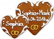 Gingerbread Heart Place Card Sophia