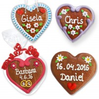 Gingerbread heart 12cm as a place card