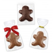 Wrapping selection of chocolate gingerbread men