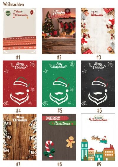 Christmas designs for our print products