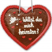 Willst du mich heiraten? - Gingerbread Heart XXL 50cm