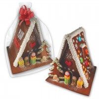 XL Gingerbread witch house with logo - extra large