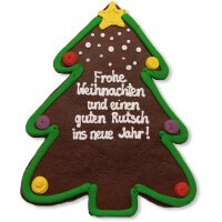 XXL Gingerbread Christmas Tree individual, 43cm