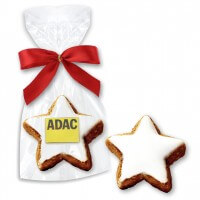 Cinammon Star Cookie incl. Logo - single packed