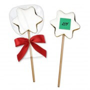 Cinnamon-Star Cake-Pop - on request with company logo