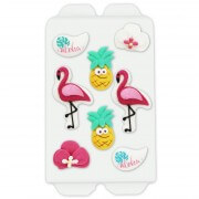 Candy decoration set with flamingo & more - 8 parts