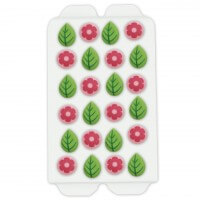 Candy decoration flowers & leaves, 24 pieces