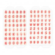 Sugar decor letters, 96 pieces