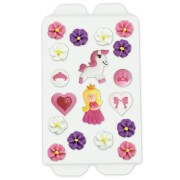 Cake decoration princess set, 16 pieces