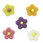 Candy decoration flowers colorful, 150 pieces
