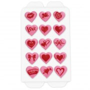 Candy decorations hearts, 15 pieces