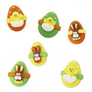 Easter egg candy decoration Bunny & Chick, 72 pieces