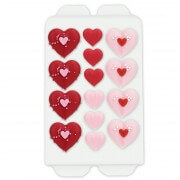Heart candy decorations, 14 pieces