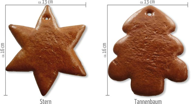 Lebkuchen Stern Tannenbaum